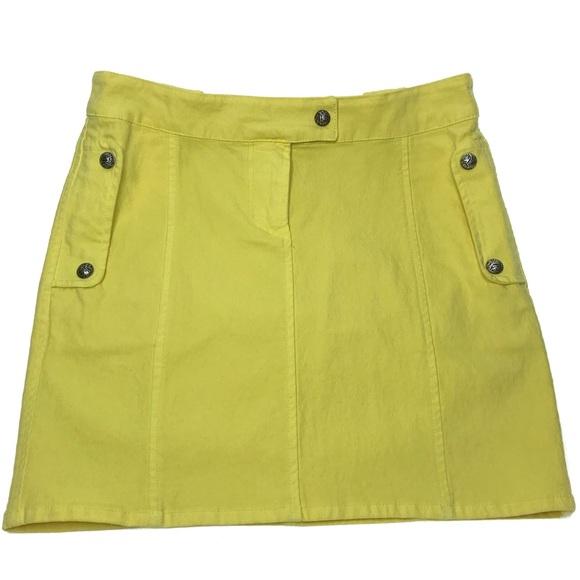 Versace Dresses & Skirts - Versace Chartreuse Mini Skirt